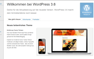 Wordpress 3.6. ist da