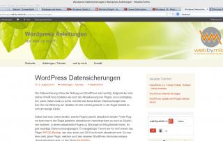 Wordpress Datensicherungen _ Wordpress Anleitungen