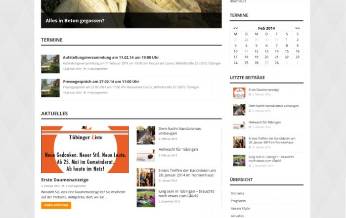 TÜBINGER LISTE – Website online