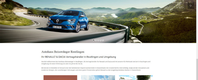 Renault und Dacia Beisswänger Reutlingen