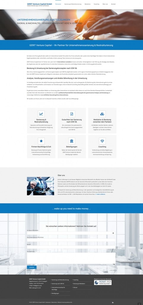 Gerit Venture Capital - neue Website ist online