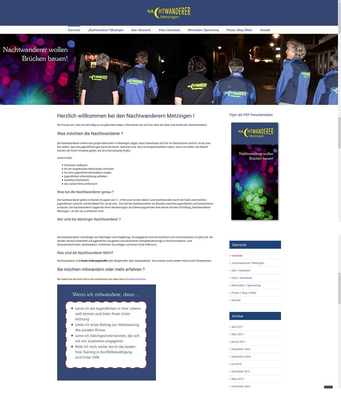 sponsoring web by michi - die nachtwanderer metzingen