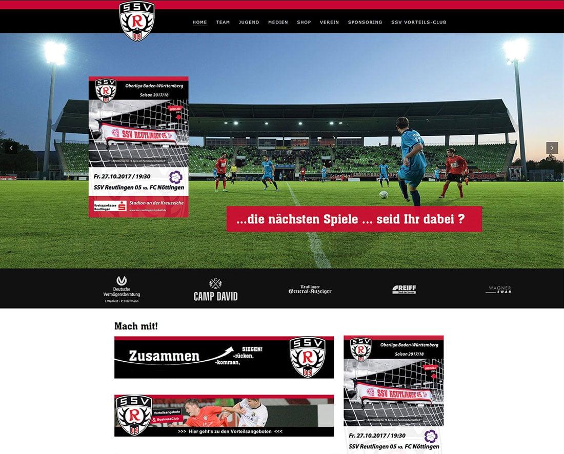 Sponsoring SSV Reutlingen Relaunch durch web by michi