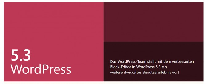 wordpress-5.3.-ist-da