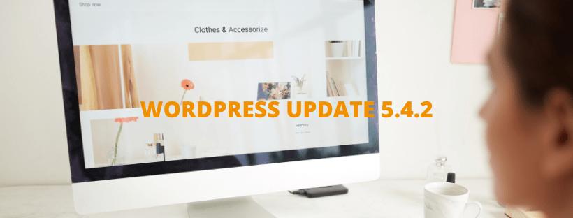 WORDPRESS UPDATE 5.4.2